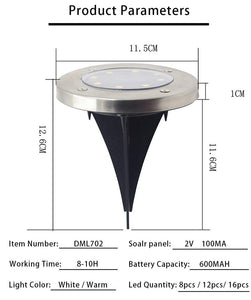 in ground solar light