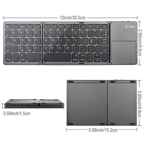 Portable Mini Foldable Bluetooth Keyboard
