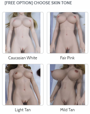 skin tone for Sanhui silicone sex dolls