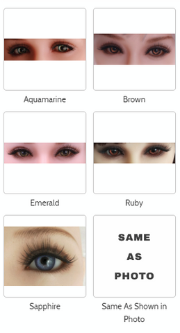 Sanhui sex dolls eye color customization