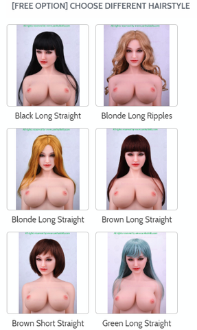 Sanhui sex dolls hairstyles