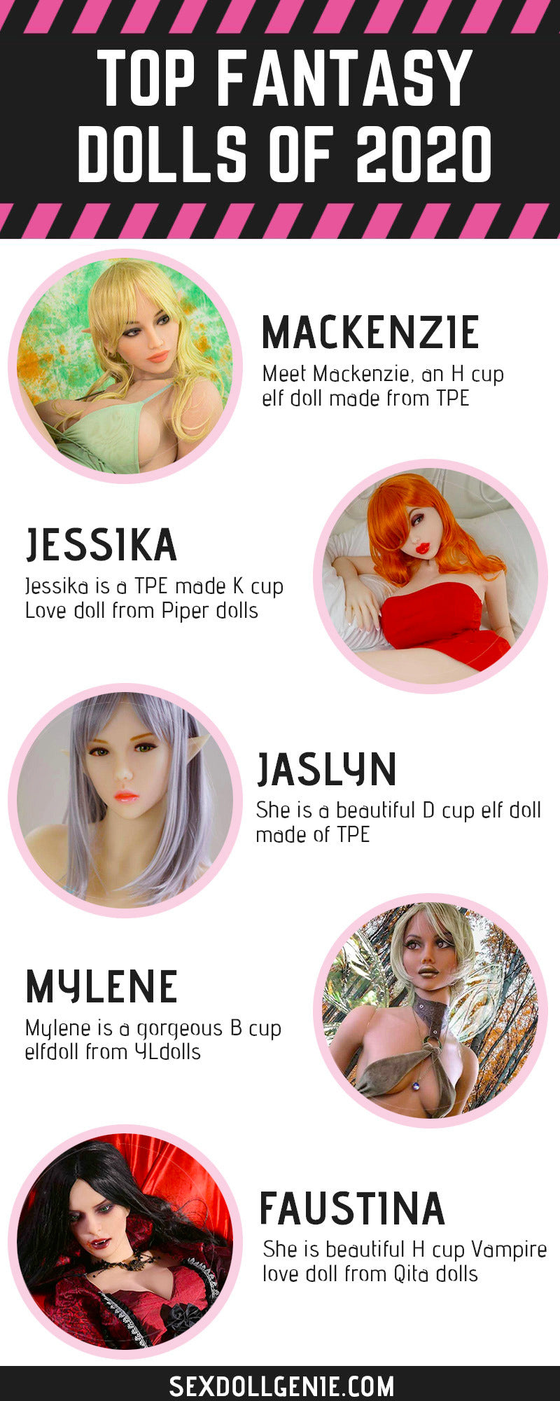 top fantasy sex dolls in 2020 - infographic