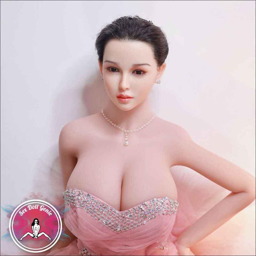 "Anja - 171cm | 5' 5"" - K Cup (Hybrid - Silicone Head + TPE Body) incl. Implanted Hair"