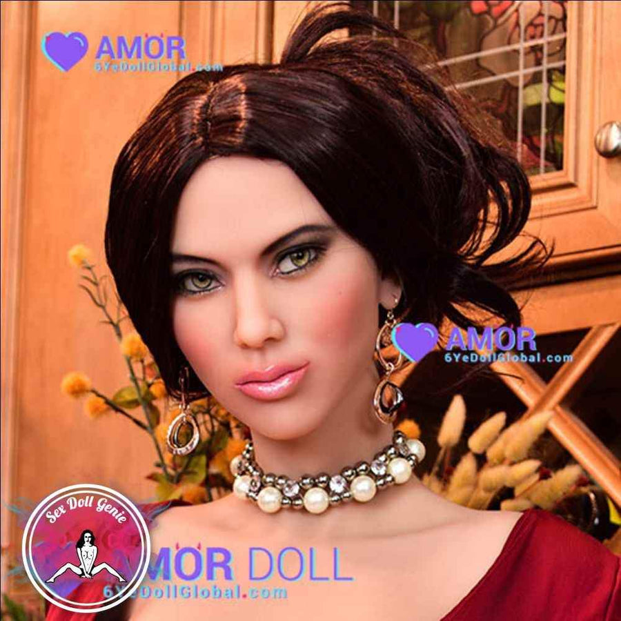 6YE Doll Head - Carina Black Wig