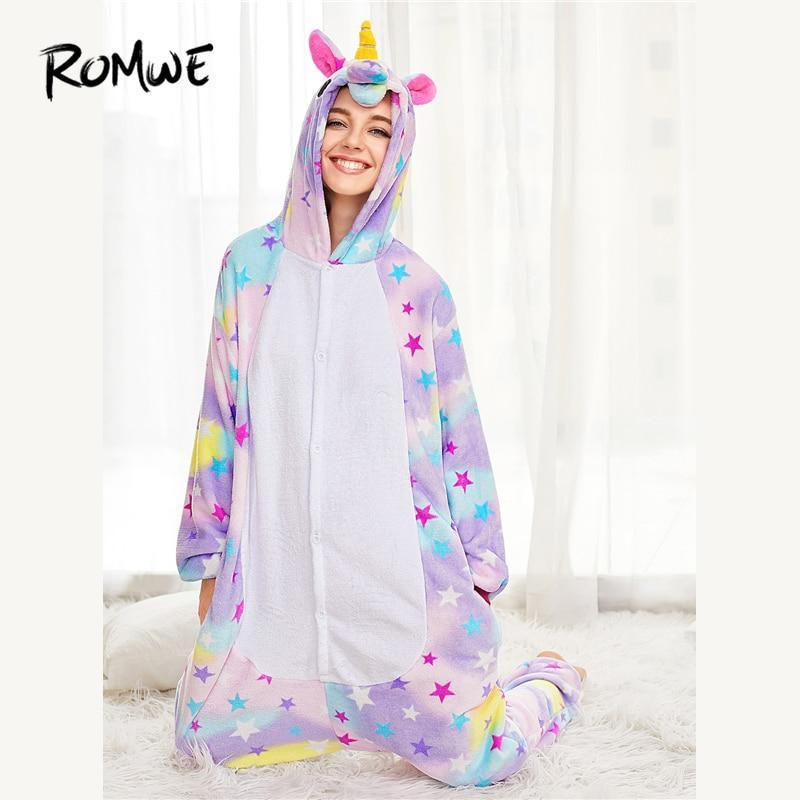 Sex Doll - Cute Unicorn Onesie (Hooded) Sleepwear - Product Image
