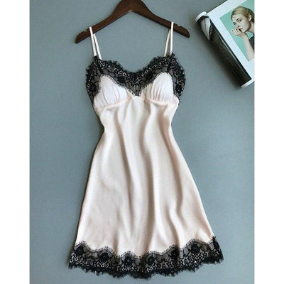 Sex Doll - Sexy Lace Sleepwear V Neck Dress Strap - Product Image