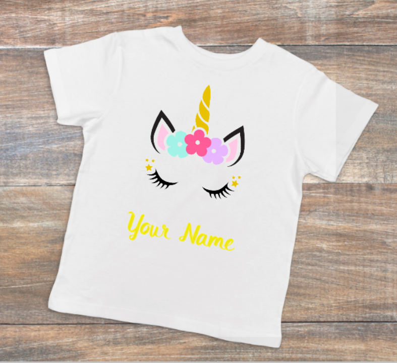 Personalized Unicorn Tee - LITE Imprints