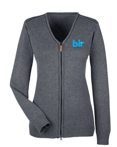 Ladies Full-Zip Cardigan Sweater - LITE Imprints