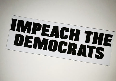 IMPEACH THE DEMS Car Magnet - LITE Imprints
