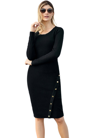 ae2970469bd Button Detail Sweater Dress