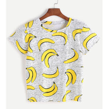 Load image into Gallery viewer, Women Summer T Shirt Short Sleeve Banana Printed T-shirt Cropped Tops Harajuku Girls Funny T Shirts Ropa Mujer Femenina - Classic Custom Tshirt