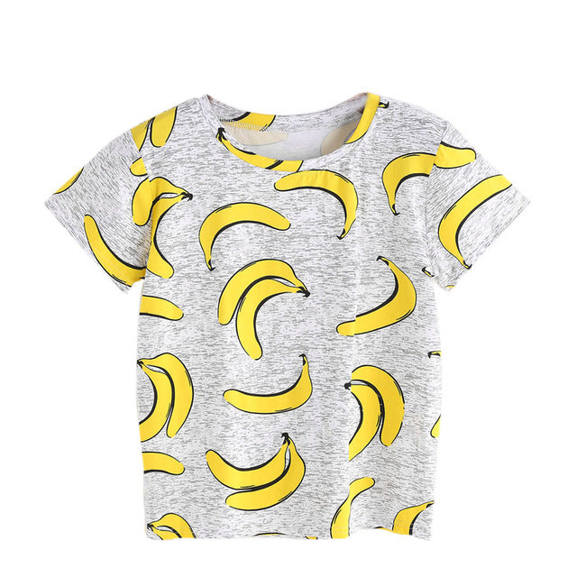 Women Summer T Shirt Short Sleeve Banana Printed T-shirt Cropped Tops Harajuku Girls Funny T Shirts Ropa Mujer Femenina - Classic Custom Tshirt