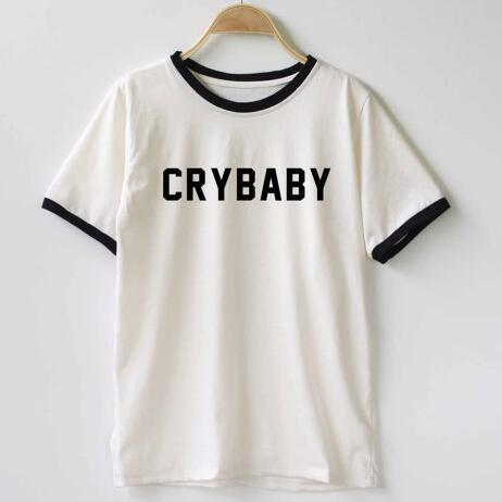 Cry Baby T-Shirt crybaby Funny tshirt Tumblr Graphic Hispter t shirt Ringer tops fashion high quality Unisex t shirt dropship - Classic Custom Tshirt