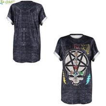Load image into Gallery viewer, Cosplay Rib Bones 3d Print Tshirt Gothic Halloween Party Tees Skeleton Club Casual T-shirts Punk Women Loose Tops Short Sleeve