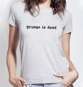 Grunge Is Dead Kurt Cobain Nirvana 90s Rock Funny T Shirt Women Cotton Short Sleeve T-shirt Camisas Mujer Vintage Summer Tops - Classic Custom Tshirt