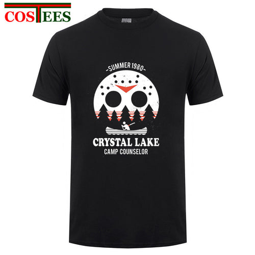 Crystal Lake harajuku Tees horror halloween T-shirt Jason freddy T shirt women men Texas chainsaw The Massacre Machine Tee shirt