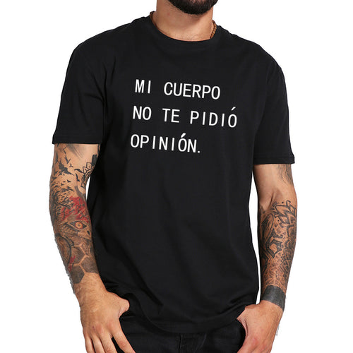 2018 Newest Tshirt Men Spain Letters Print Classic Female T-shirt Plus Size High Quality Comfortable Funny Shirt EU Size - Classic Custom Tshirt