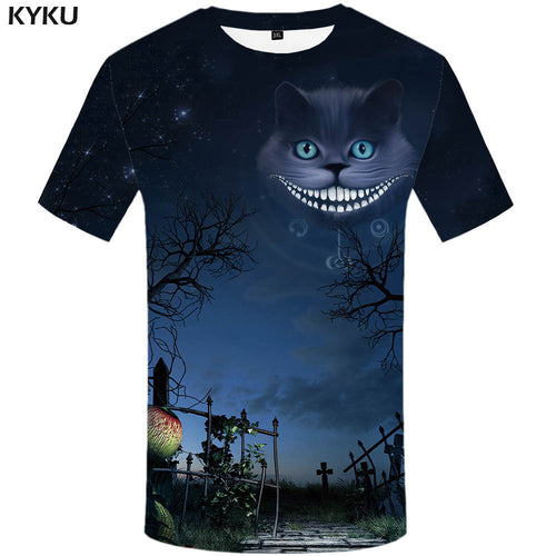 KYKU Brand Cat Shirt Halloween Tshirt streetwear T-shirt Print 3d T shirt Men Short Sleeve Funny T Shirts Mens Clothing 2018 New