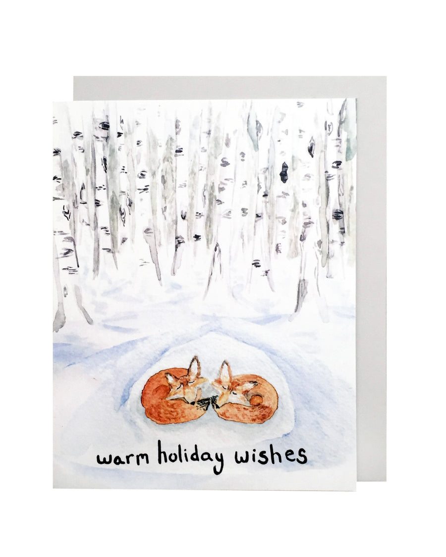 Fox Warm Holiday Wishes Card