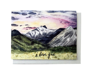 Sunset I Love You Card Set of 6