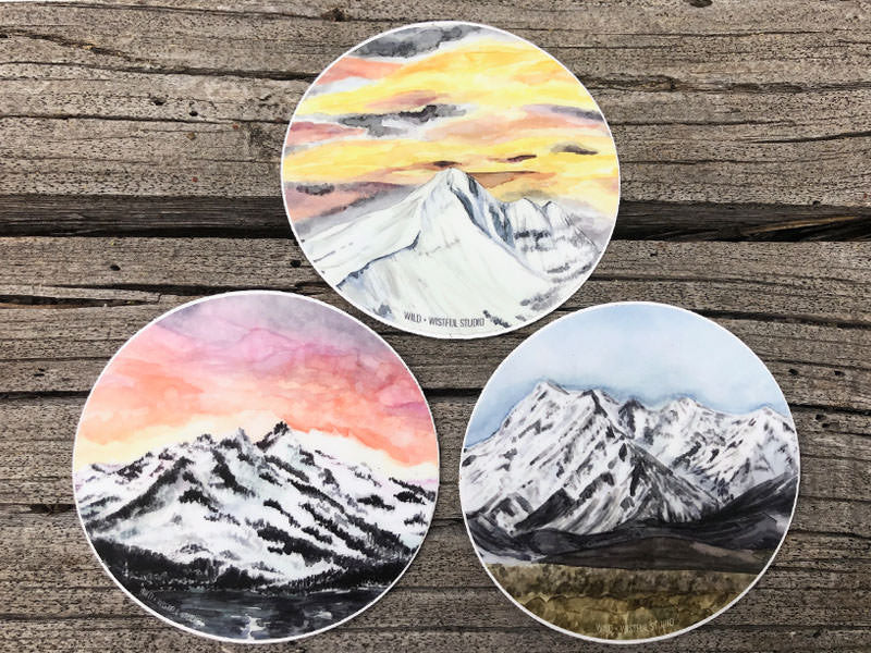Mountain Sticker Set of 3