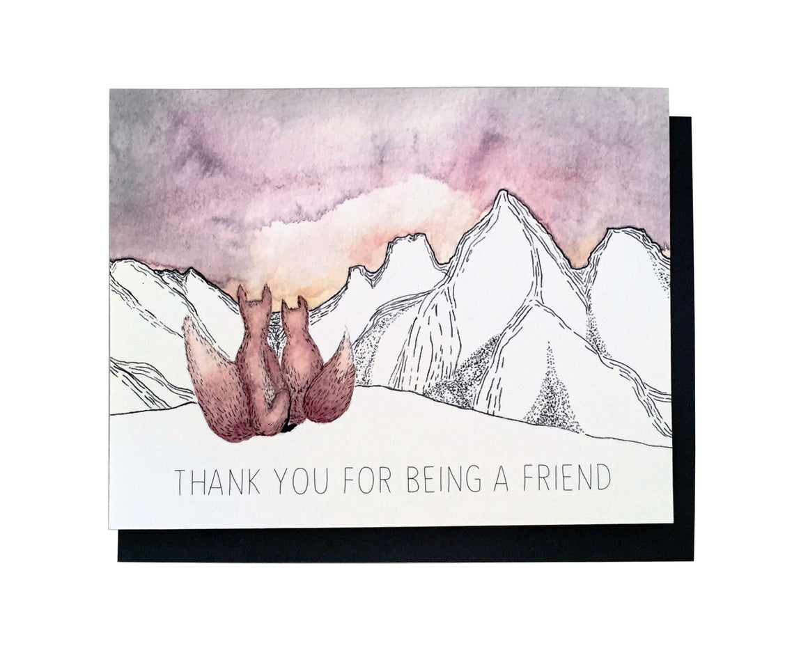 Fox Friend Thank You Card