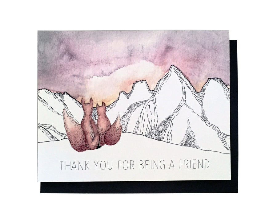 Fox Friend Thank You Card Set of 6