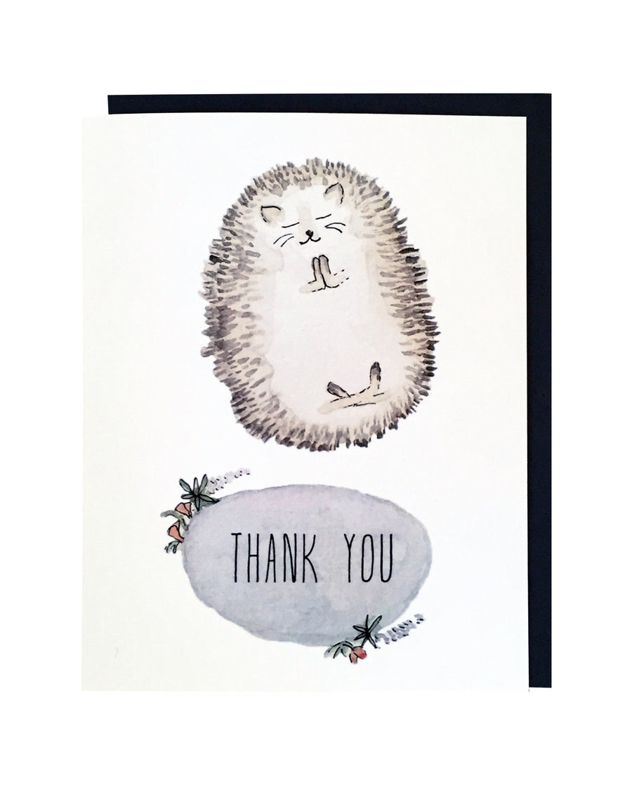 Hedgehog Thank You Card