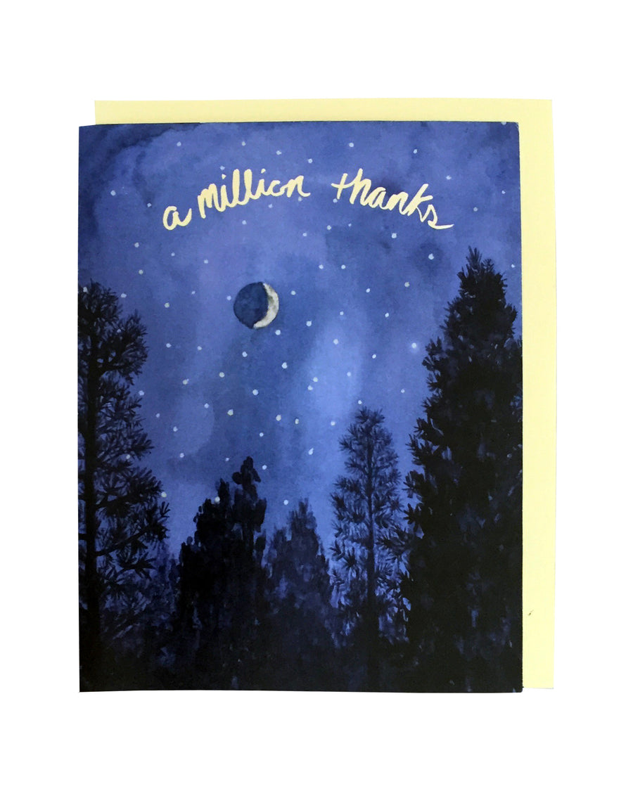 A Million Thanks Card Set of 6