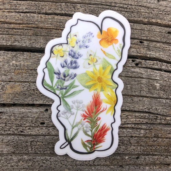Lake Tahoe Wildflowers Sticker