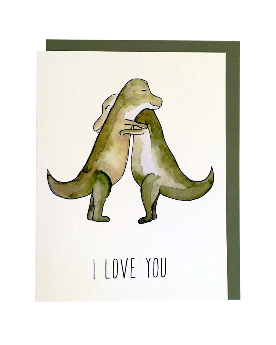 T-Rex I Love You Card