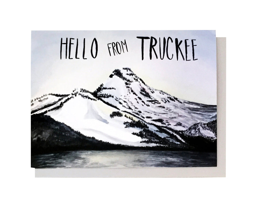 Hello From Truckee Card