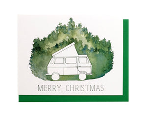 Camper Van Christmas Card