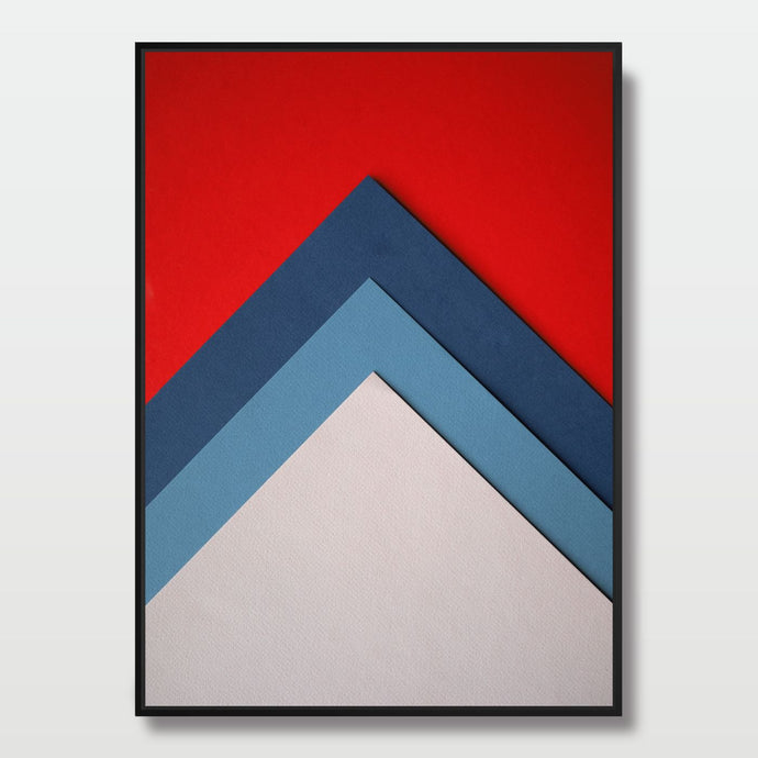 Geometric Edges - Paintings - Roumies Affordable Art - www.Roumies.com