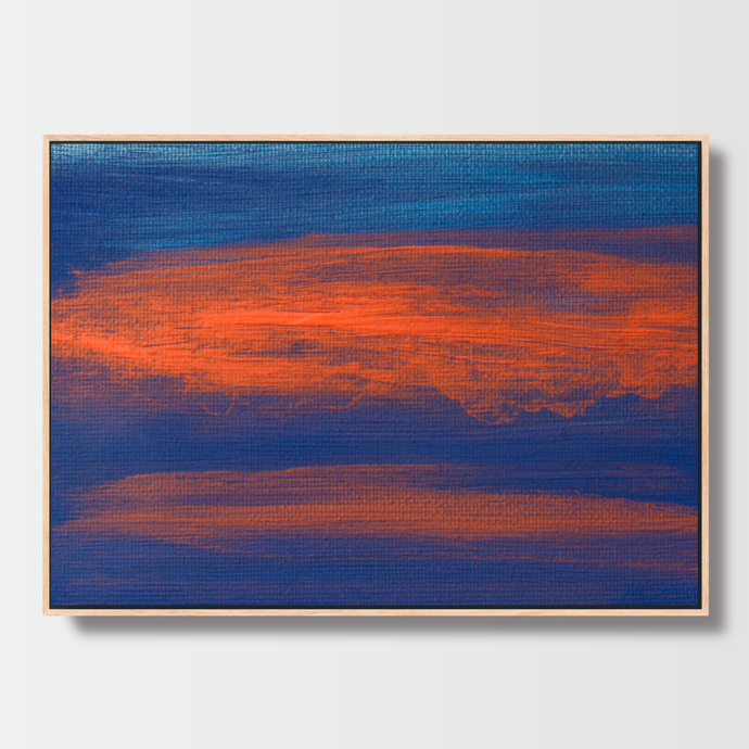 Orange Reflections - Paintings - Roumies Affordable Art - www.Roumies.com