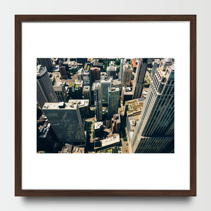 Downtown Aerial - Prints - Roumies Affordable Art - www.Roumies.com