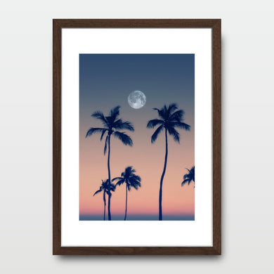 Sunset Palm Trees - Prints - Roumies Affordable Art - www.Roumies.com
