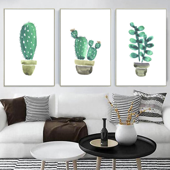 Cactus in Watercolor 3 Piece Set - Prints - Roumies Affordable Art - www.Roumies.com