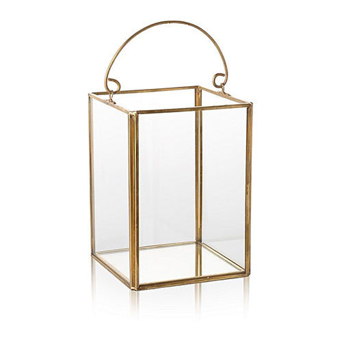 Gold Glass Lantern - Decor - Roumies Affordable Art - www.Roumies.com