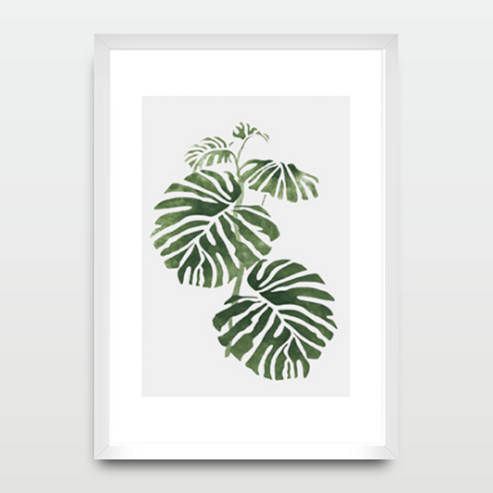 Forest Leafs in Watercolor - Prints - Roumies Affordable Art - www.Roumies.com