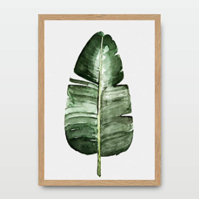 Banana Leafs in Watercolor - Prints - Roumies Affordable Art - www.Roumies.com