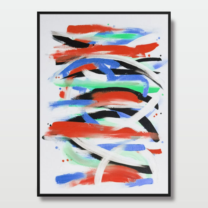 Abstract Strokes - Paintings - Roumies Affordable Art - www.Roumies.com