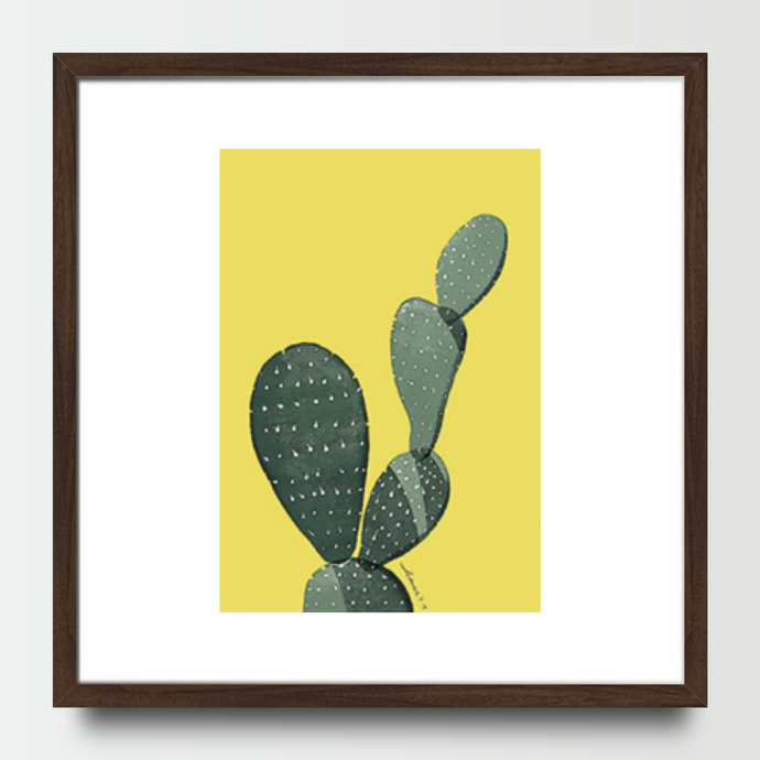 Cactus Prickly Pear in Colour - Prints - Roumies Affordable Art - www.Roumies.com