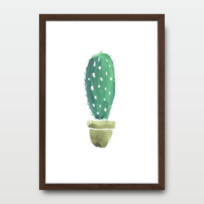Cactus Solo in Watercolor - Prints - Roumies Affordable Art - www.Roumies.com
