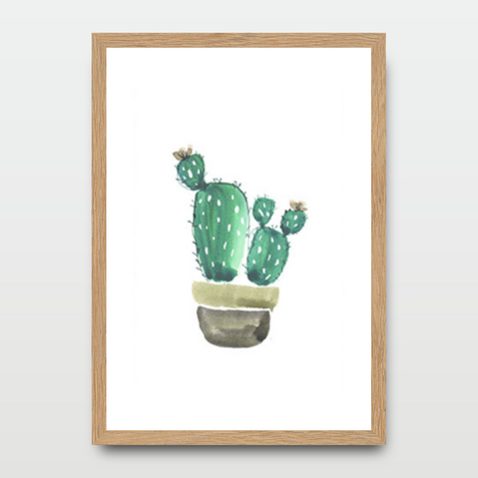 Cactus Friends in Watercolor - Prints - Roumies Affordable Art - www.Roumies.com