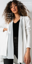Load image into Gallery viewer, Off-white Chiffon-Cotton Cardigan