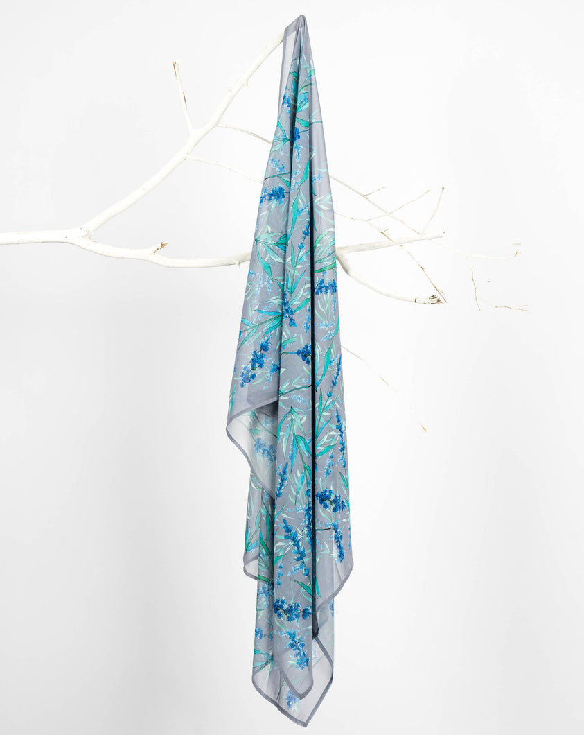 Evergreen Grey Chiffon Scarf