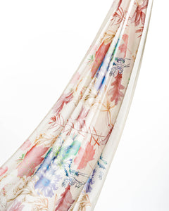 Off-white Forest Garden Chiffon Scarf