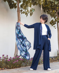 Navy-blue Pure Cotton Cardigan