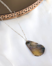 Load image into Gallery viewer, Sterling Silver Dark Marble Necklace